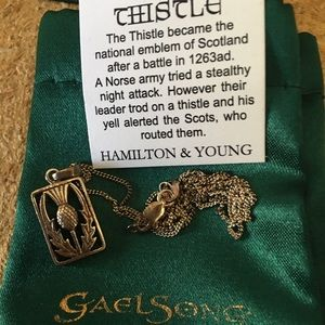 Jewelry - Hamilton and Young Scottish Thistle necklace